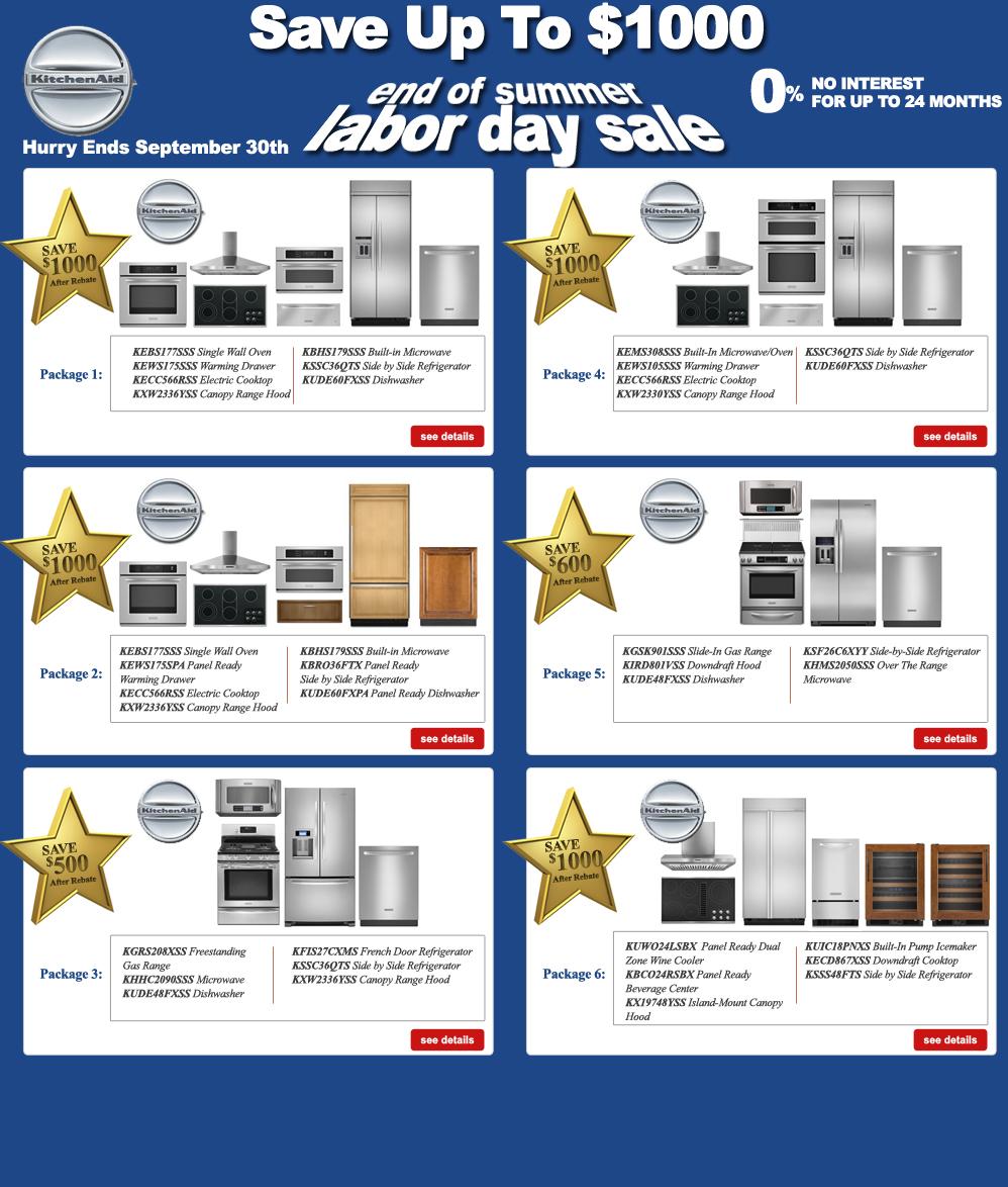 Labor Day Kitchen Aid Appliance Sales