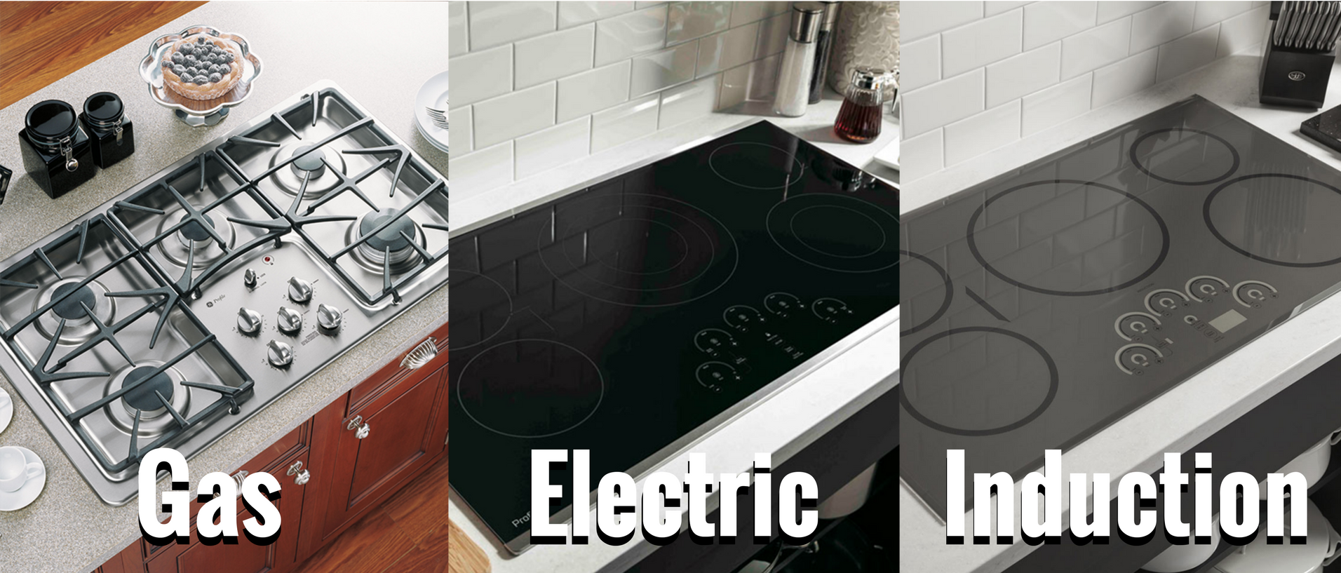 what is the difference between gas vs electric vs induction cooktop ranges appliances connection. Black Bedroom Furniture Sets. Home Design Ideas