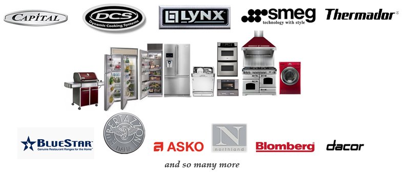 High end appliances appliances connection for High end appliance packages