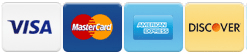 Credit/Debit Cards - Discover, MasterCard, Visa, American Express