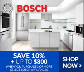 Bosch - Save 10% + Up to $800 on Select Bosch Appliances