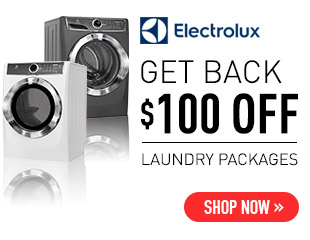 Electolux LuxCare Laundry Sale - Get Back $100 Select Electrolux Laundry Pairs