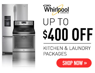 Whirlpool - Up to $400 on Select Whirlpool Applinaces