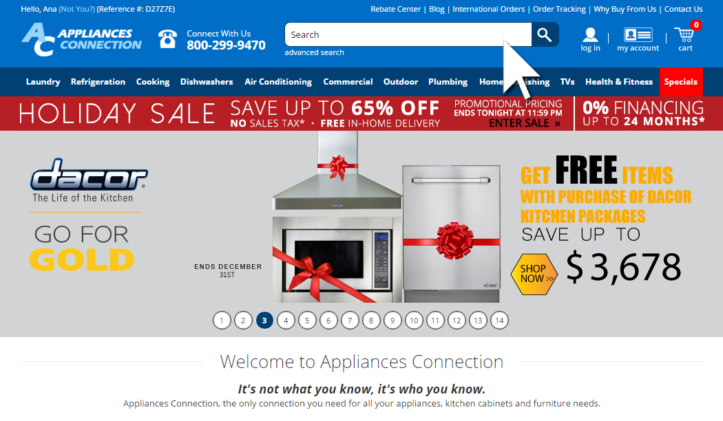 AppliancesConnection.com cart