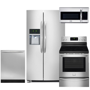 Frigidaire Gallery Kitchen Appliance Package 2016 With Side-by-Side Refrigerator