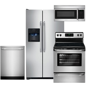 Frigidaire Kitchen Appliance Package with Side-By-Side Refrigerator