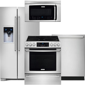 Electrolux Kitchen Appliance Package with Side-By-Side Refrigerator