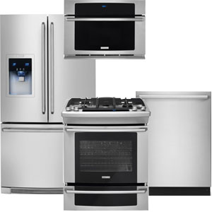 Electrolux Stainless Steel Wave-Touch Kitchen Appliance Package with French-Door Refrigerator