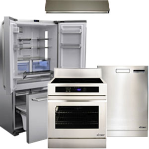 Dacor Stainless Steel Kitchen Appliance Package with French Door Refrigerator