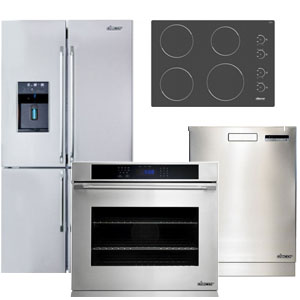 Dacor Stainless Steel Kitchen Appliance Package with 4-Door French Door Refrigerator