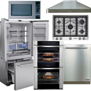 Dacor Stainless Steel Turbo Kitchen Appliance Package with French Door Refrigerator