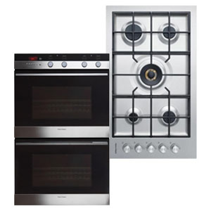 Fisher Paykel Stainless Steel Kitchen Appliance Package with Double Wall Oven