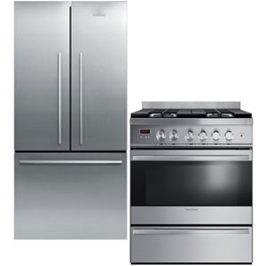 Fisher Paykel Stainless Steel Kitchen Appliance Package with Fridge and Range