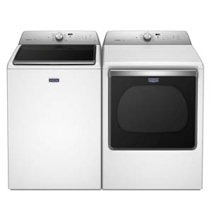 Maytag Bravo XL series in white laundry pair