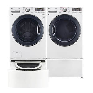 LG Twinwash Sidekick Laundry Pair in White