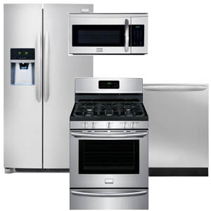 Frigidaire Side-by-Side Gallery Kitchen Appliance Package