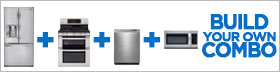 LG Stainless Steel 4 Piece Kitchen Package