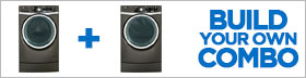GE RightHeight Design Metallic Carbon Laundry Pair