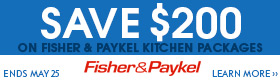 Fisher Paykel Stainless Steel  Piece Kitchen Package