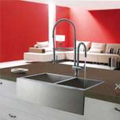 Click to view all Stainless Steel Sinks and Faucets