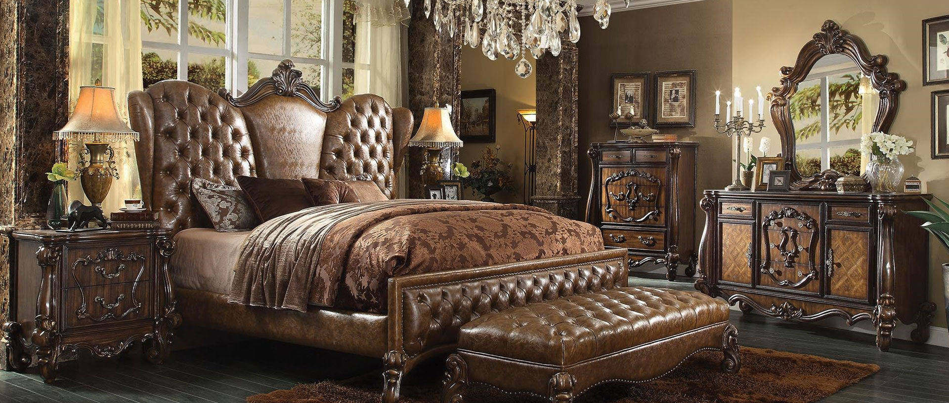 21097EK6PC ACME Versailles 6PC Bedroom Set
