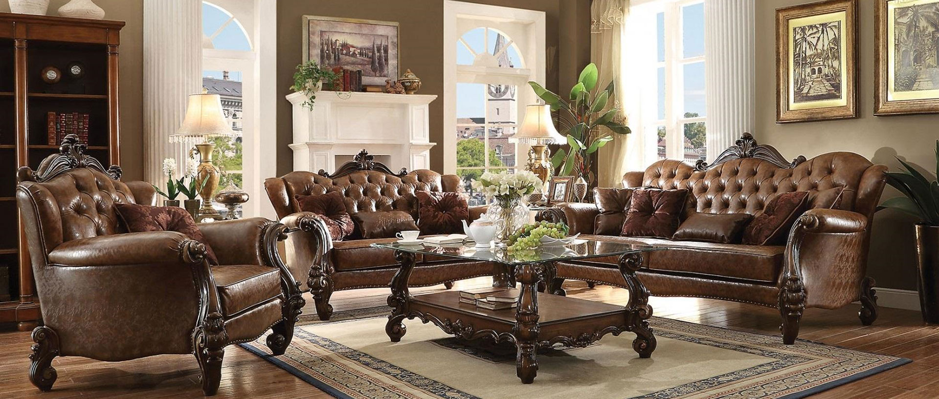 521003PC ACME Versailles 3PC Living Room Set