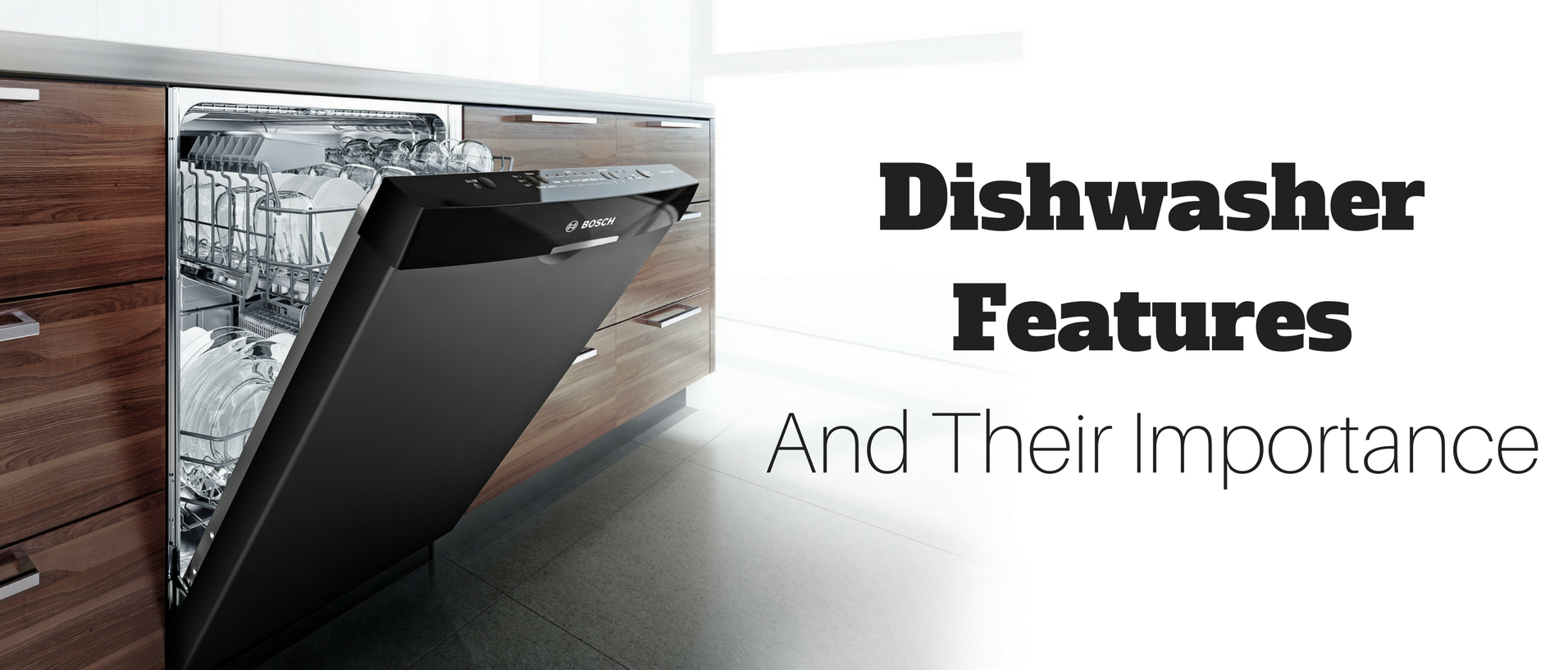 built-in dishwasher integrated look