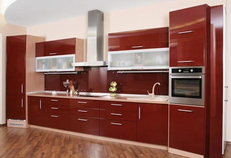 Red Horizontal Kitchen