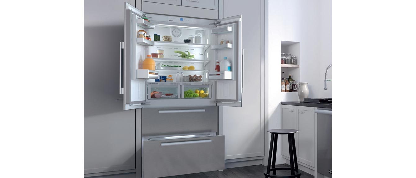 Miele KFNF9955iDE PerfectCool Series 26-Inch Built-In Counter Depth French Door Refrigerator