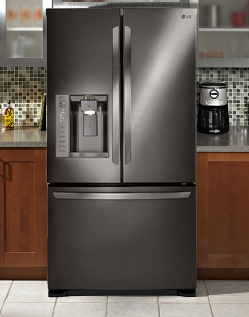 LFX25973D Black Stainless Steel 36 inch French Door Refrigerator