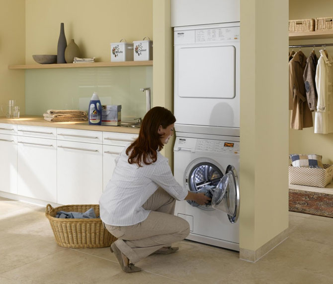 Miele PT7135WH 24 Inch Electric Dryer and Matching Washer