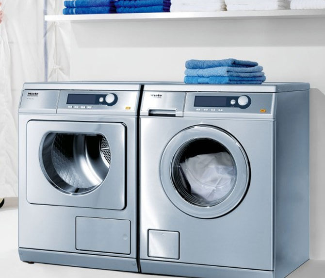 Miele PW6065SS 24 Inch Front Load Washer and Matching Dryer