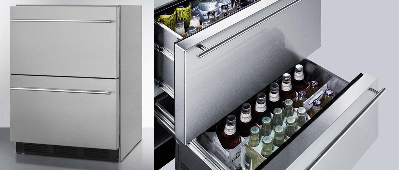 Sp6ds2dos7 Summit 24 Outdoor Drawer Refrigerator