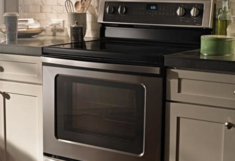 The WFE540H0ES Whirlpool Electric Range in Stainless Steel, available at Appliances Connection.