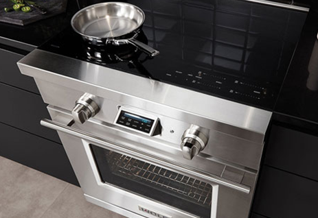 The Wolf Freestanding IR365PESPH Electric Pro-Range, available at Appliances Connection.