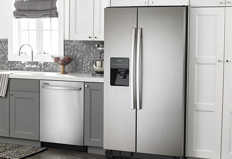 Amana side by side refrigerator 1