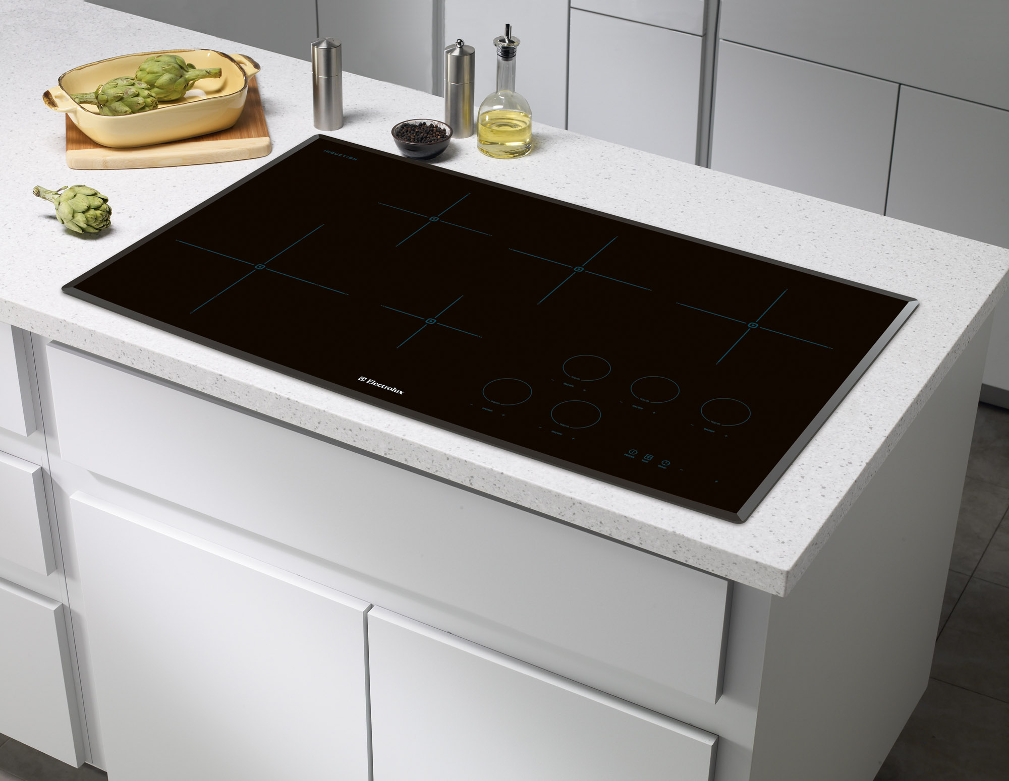 Wall oven under cooktop - Electrolux Ew36ic60lb Induction Cooktop