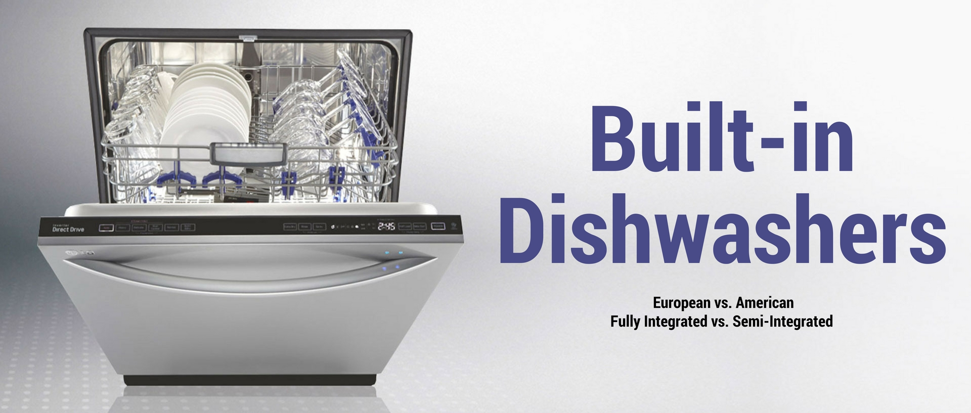 all about built-in dishwashers banner
