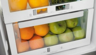 dual humidity controlled crisper drawer