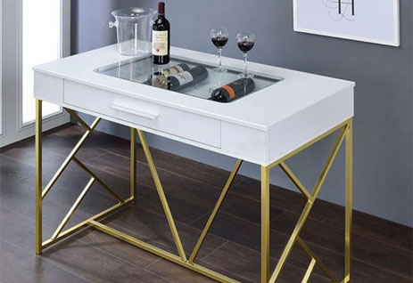 White bar table