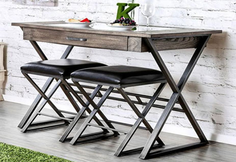 X-shaped bar table