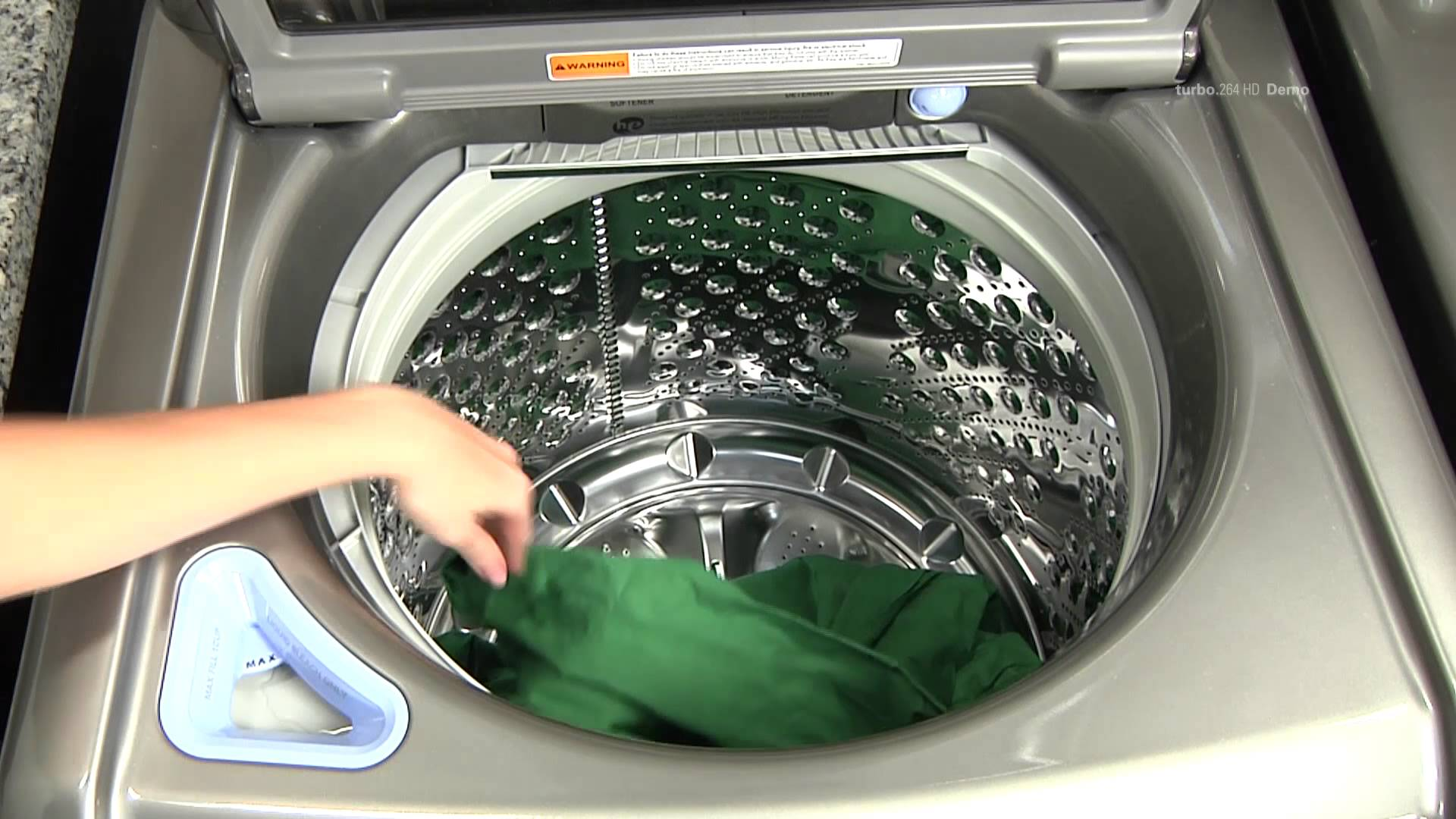 top load washing machine no agitator