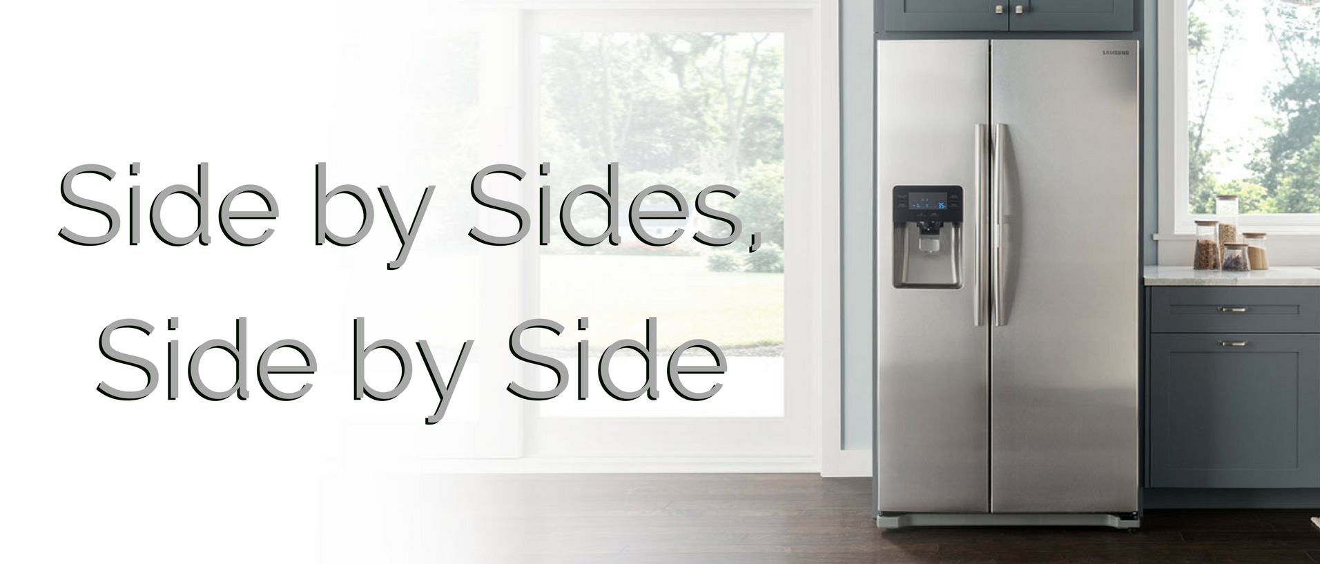Side by side refrigerators banner