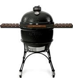 BigJoe Ceramic Grill On Cart - Black