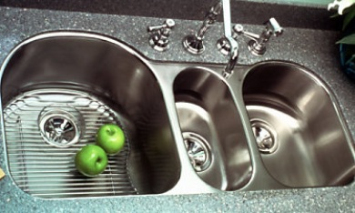 Triple: ELUH3920 Elkay Lustertone Triple Bowl Undermount Sink Is A  Comprehensive And Complete Triple Basin Sink Setup.