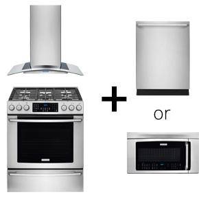 buy range either microwave or range hood get free
