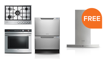 Free Ventilation Hood or Cooktop with Select Built-in Kitchen Package Purchase