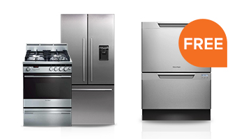 Free Double Dishdrawer Dishwasher with Select Freestanding Kitchen Package Purchase