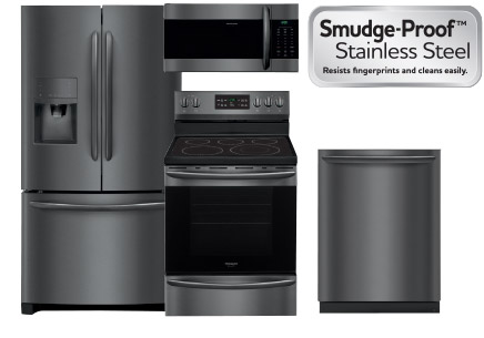 A Beautiful New Look With The Same Easy To Clean Fingerprint Resistant Finish Introducing Frigidaire Gallery Smudge Proof Black Stainless Steel