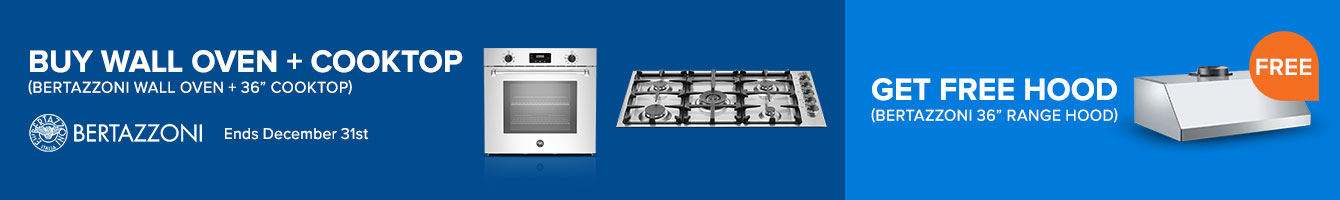 Bundle and get a FREE Range Hood on Bertazzoni Appliance Packages